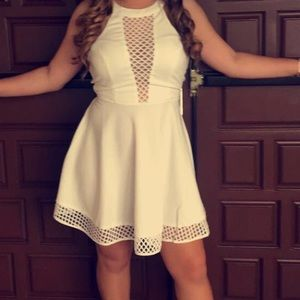a laced white dress